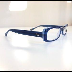 DOLCE & GABBANA BLUE FRAMES GLASSES DG 1199 1762
